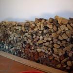 Brennholzvorrat für unseren Specksteinofen