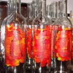 vorbereitete Flaschen für Eierlikör