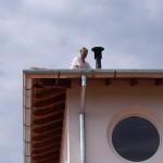 Lothar auf dem Dach