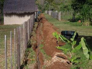 1Ausgraben der alten Wasserleitung