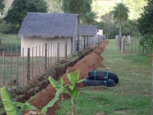 Ausgraben der alten Wasserleitung