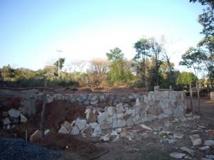 Aufmauern der Fundamente