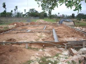 Fundamentstreifen werden gelegt