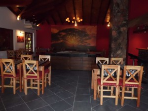 Restaurant mit Sonnenuntergang